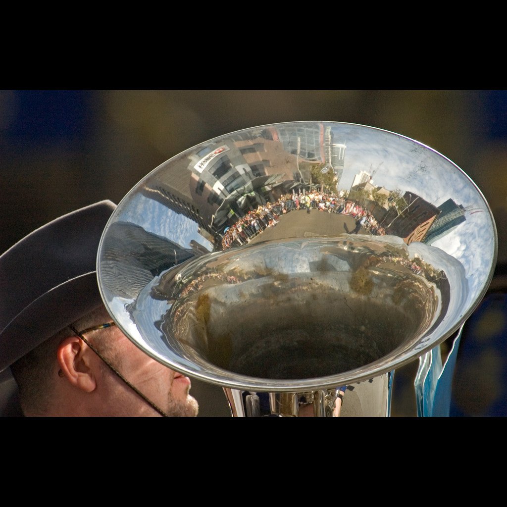 Photograph Reflection in a Tuba by Malcolm Fackender on 500px