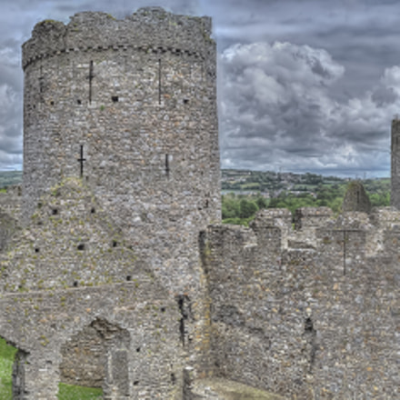 Panorama of Kidwelly Castle