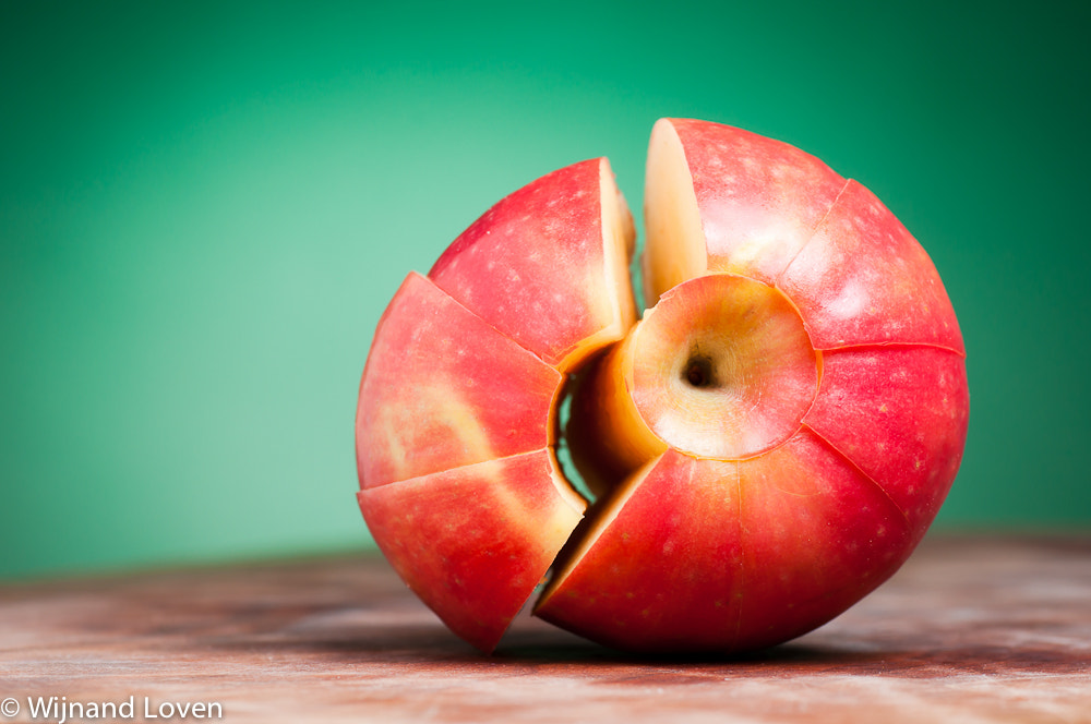 Photograph Cut and cored apple, in original shape by Wijnand Loven on 500px