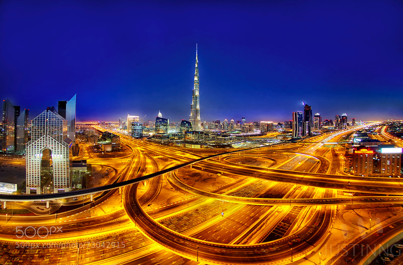 Panoramic View of Burj Khalifa