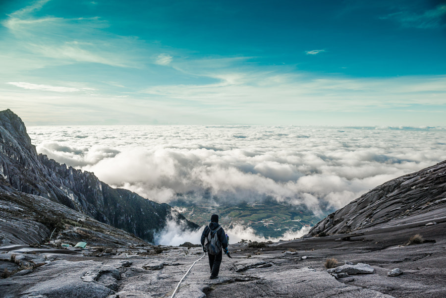 After sunrise we left the summit and descended the mountain by Adrian Ng on 500px.com