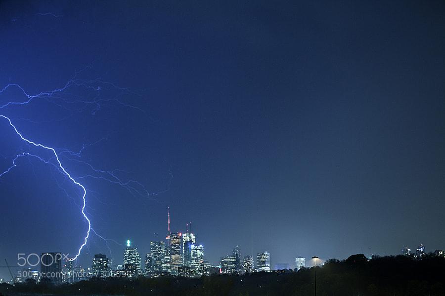 Toronto Lightning Strike by Richard Gottardo (RichardGottardo) on 500px.com