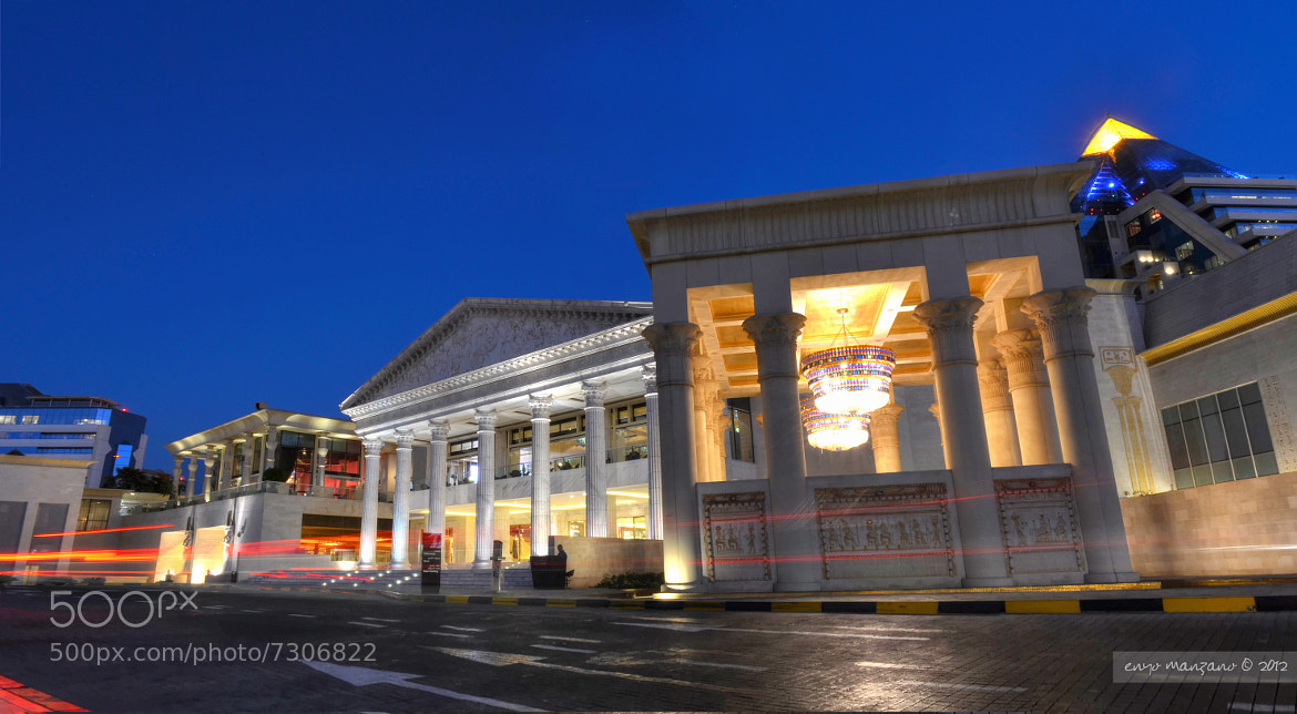Photograph Blue Hour at Wafi City by Ernie Manzano on 500px