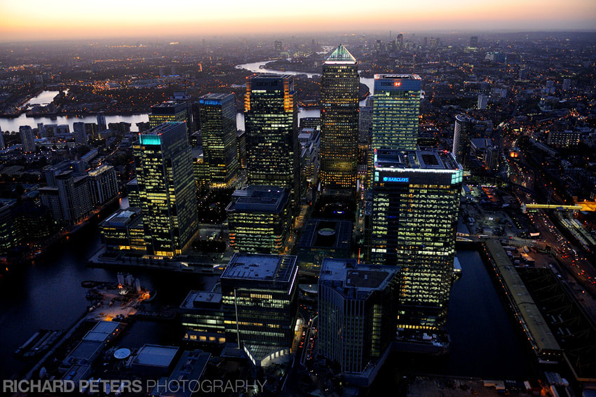 Photograph Canary Wharf, London, at sunset by Richard Peters on 500px