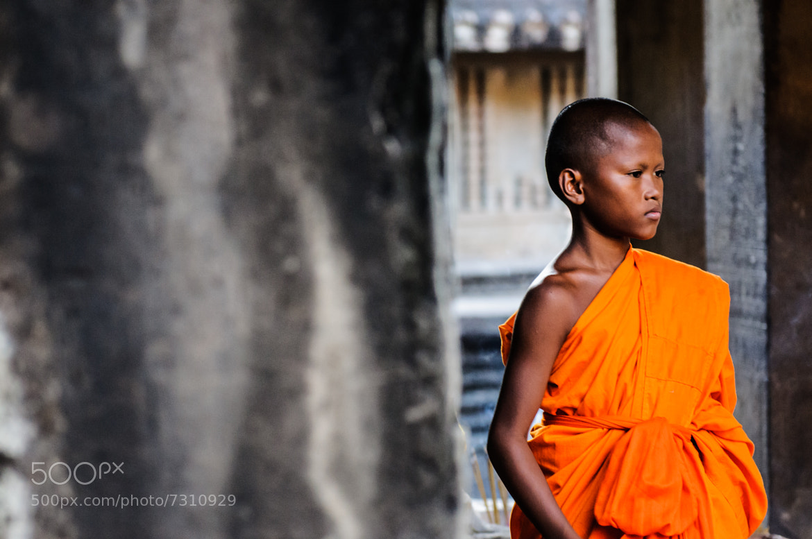 Photograph Little Monk @ Angkor Wat Part II by Jasper Poppe on 500px