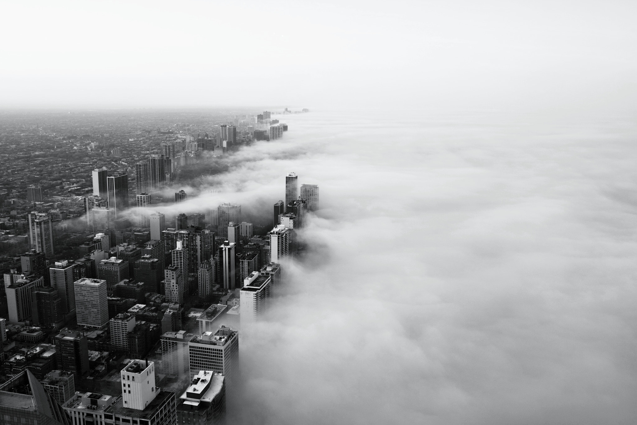 Photograph Fog Sweeps The City - Black and White by Noah Siano on 500px
