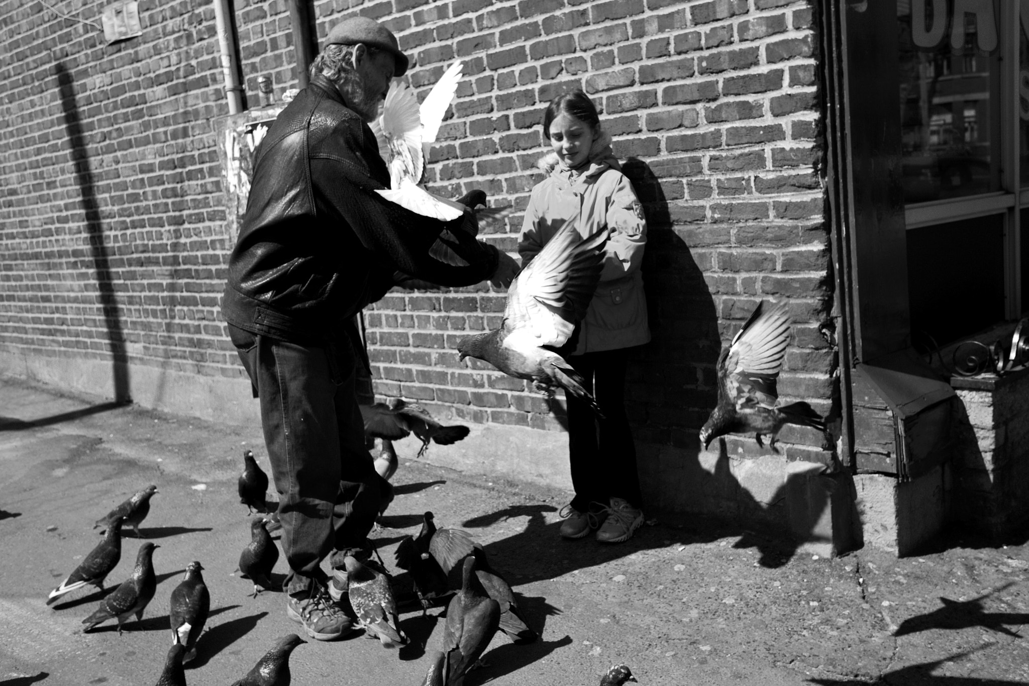 Photograph The pigeons and the girl by Emmanuel Dubois on 500px