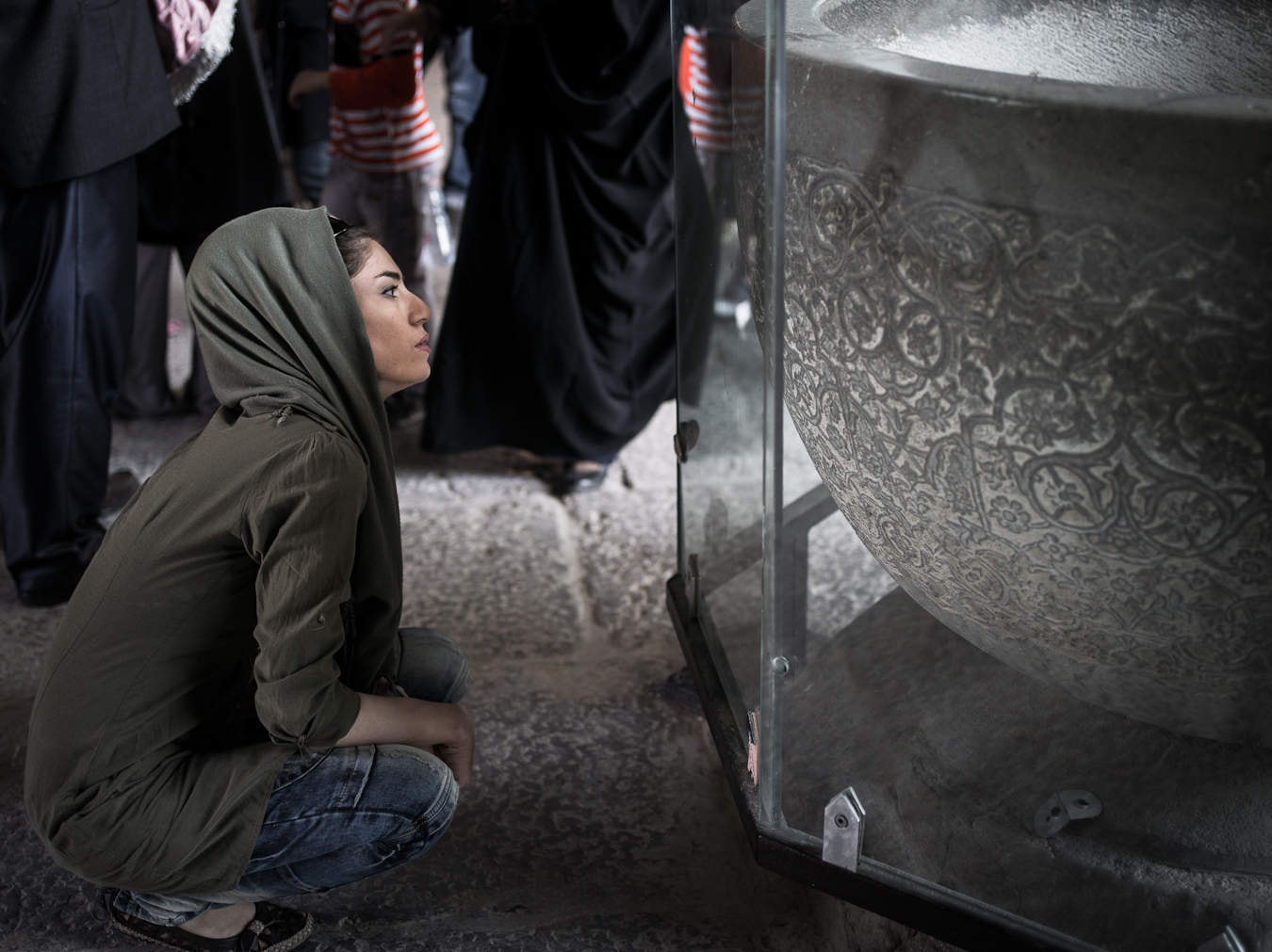Photograph Iranianlady admiring stone bowl, Iran by Chiaro Scurist on 500px