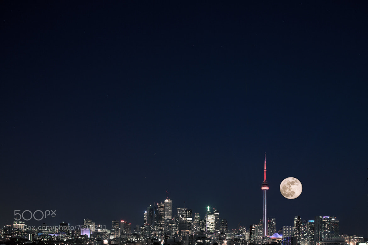 Photograph Toronto Skyline and the super moon by Richard Gottardo on 500px