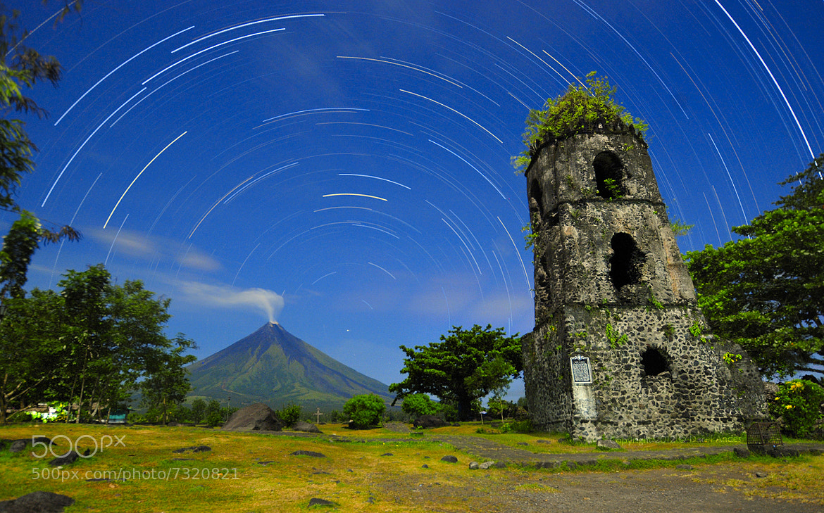 Photograph Moonlit Star Trails by Dacel Andes on 500px