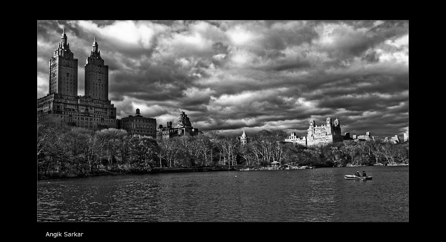 Dramatic clouds over Central Park by Angik Sarkar on 500px.com