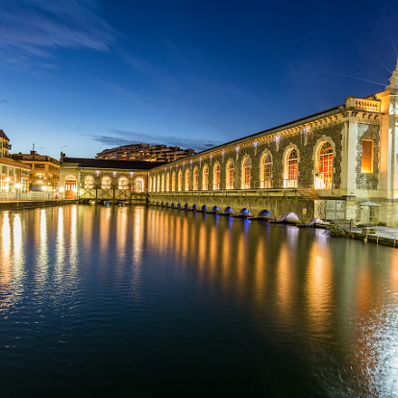 BFM in Geneva by night