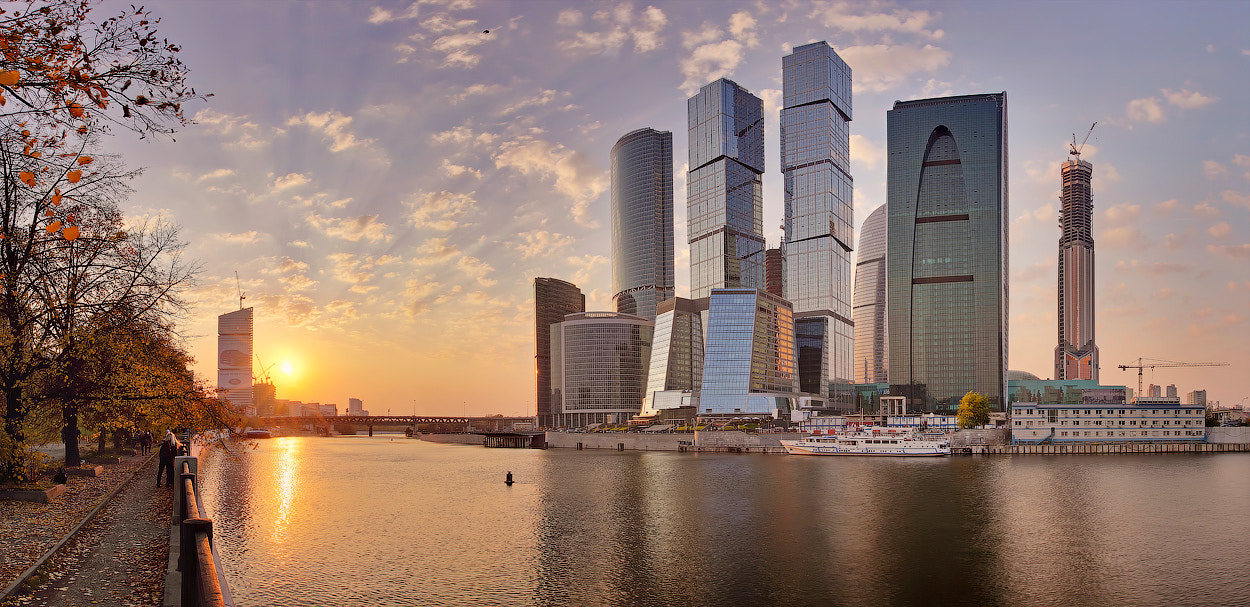 Photograph Moscow-City at sunset by Denis Sorokin on 500px
