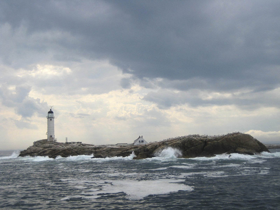 Lighthouse in the storm by Nichole Goldworthy on 500px.com