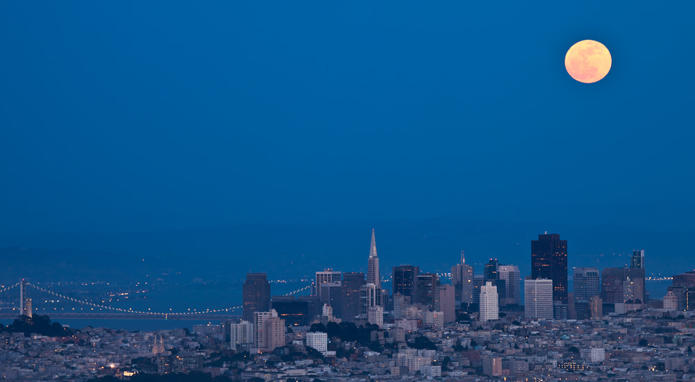 Photograph Super Moon Over San Francisco 3 by Cindy Costa on 500px