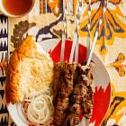 Recipe at http://www.hungrycravings.com/2014/06/uzbek-lamb-kebabs-and-marinades-updates.html
