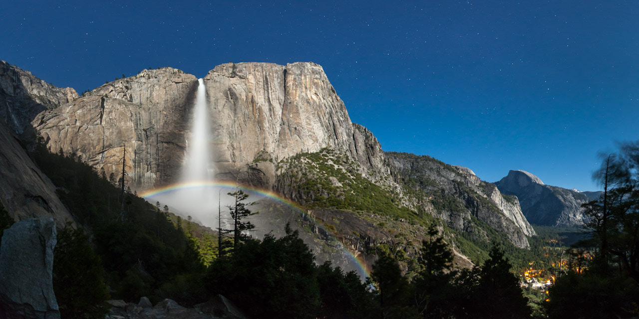 Photograph Moonbow Panorama by Brian Hawkins on 500px