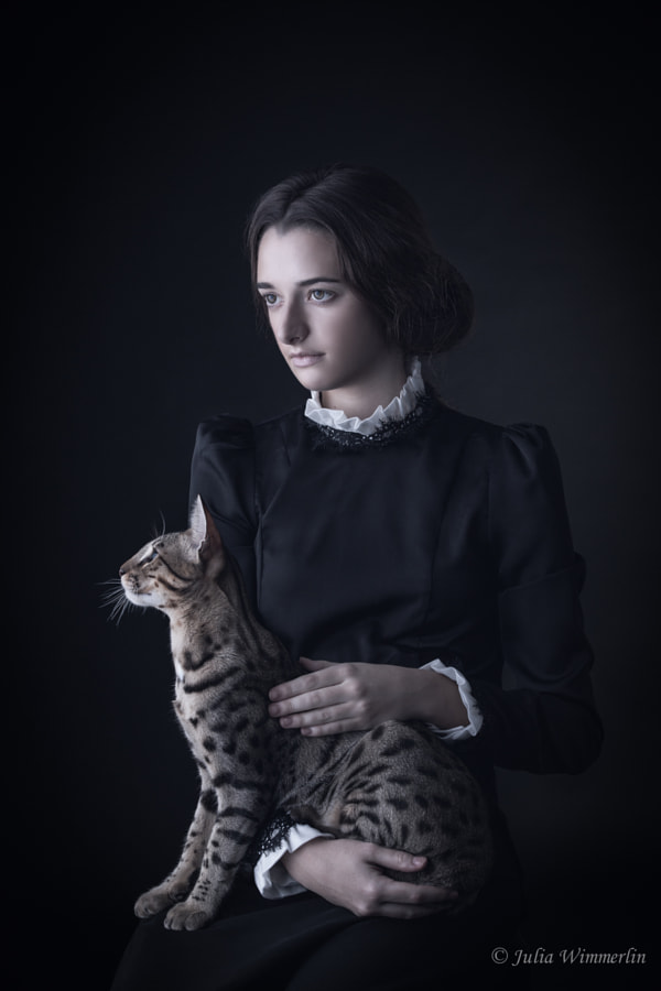 Girl with a cat by Julia Wimmerlin on 500px.com