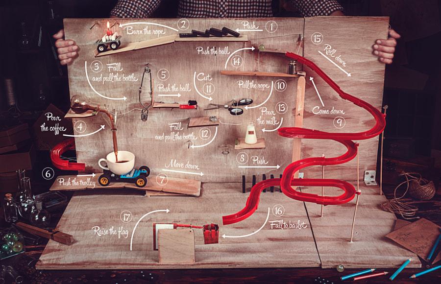 Rube Goldberg coffee machine by Dina Belenko on 500px