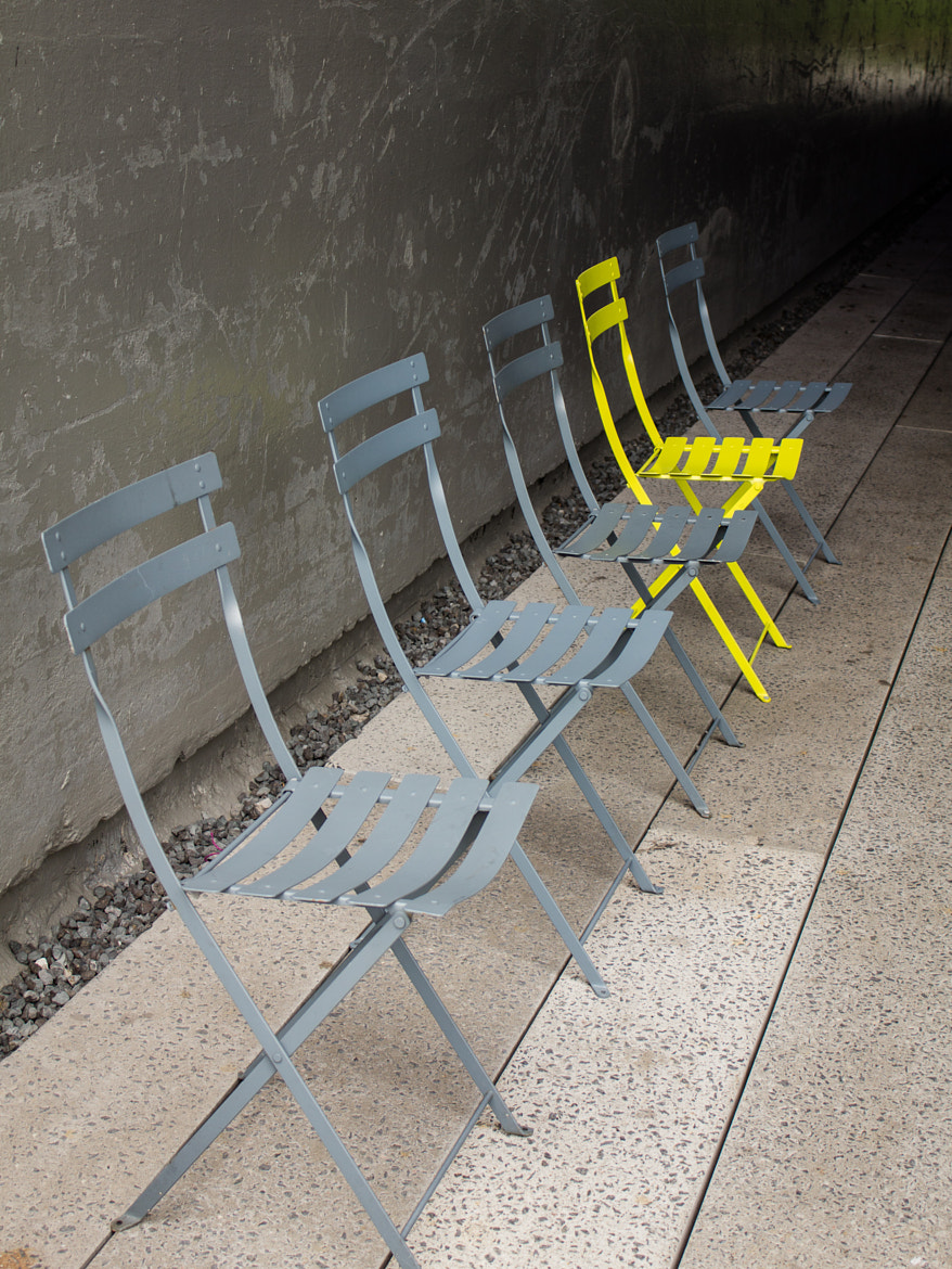 Photograph Chairs in a Line by Stuart Greenberg on 500px