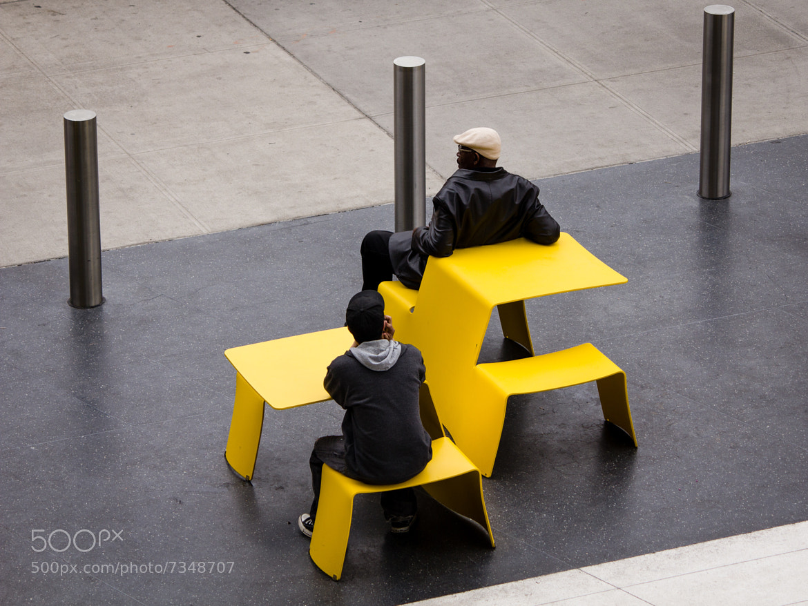 Photograph Resting at the Yellow Tables by Stuart Greenberg on 500px
