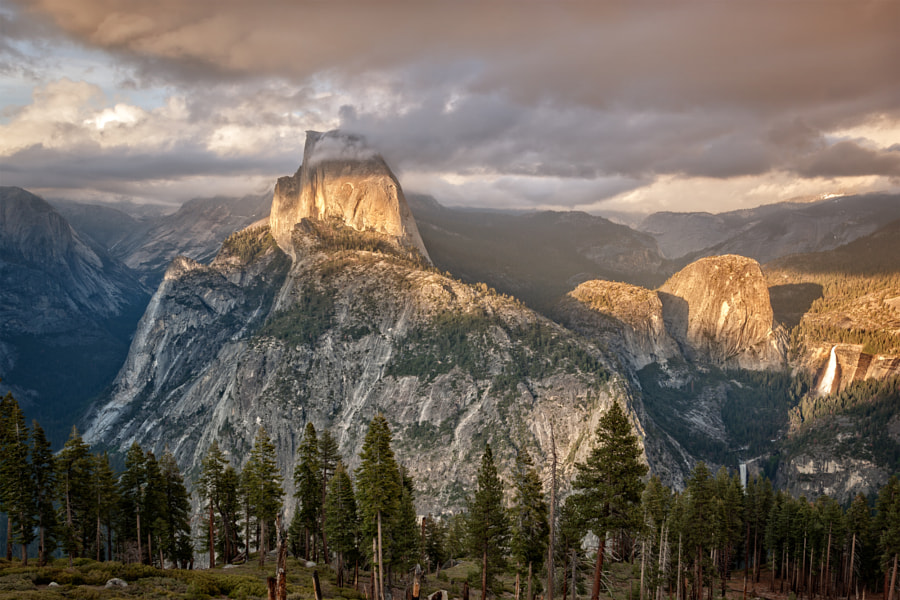 Half Dome sunset by Rob Lodge Photography - Outdoors Adventure Travel