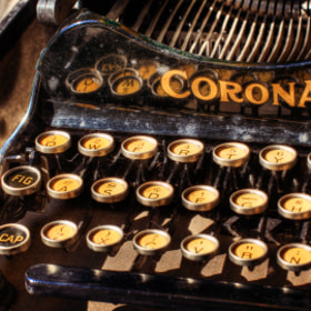 Old Corona Typewriter by Mike & Nicole Stuart (stustustudio)) on 500px.com