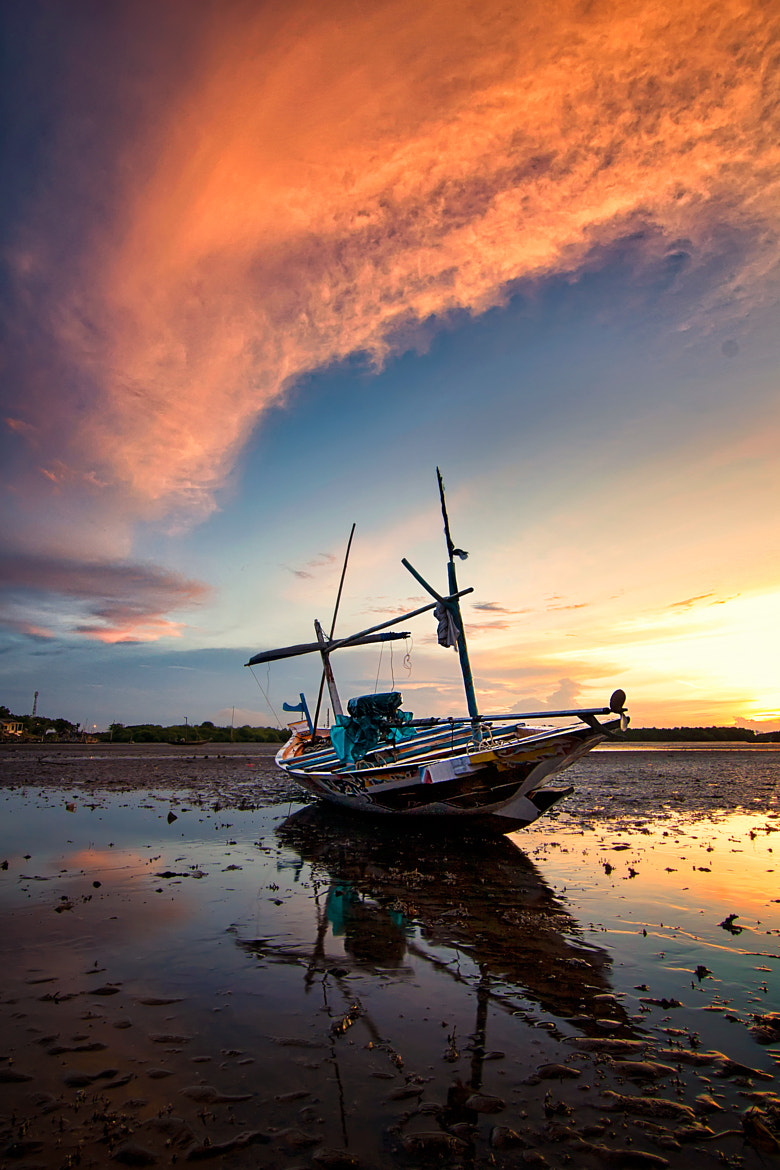 Photograph Stranded Boat by Eep Ependi on 500px