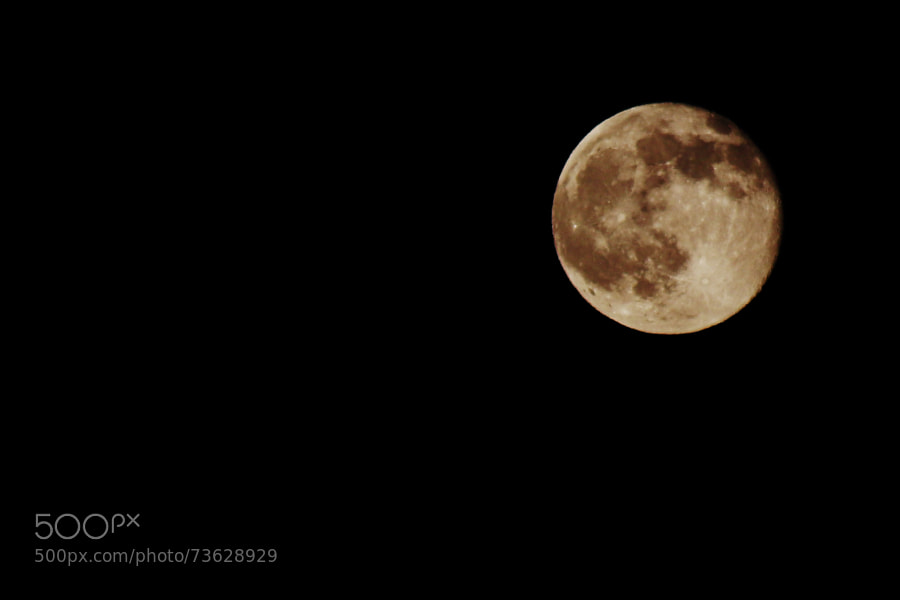 Photograph Strawberry Moon (Friday 13th,  June, 2014) by Jeff Carter on 500px