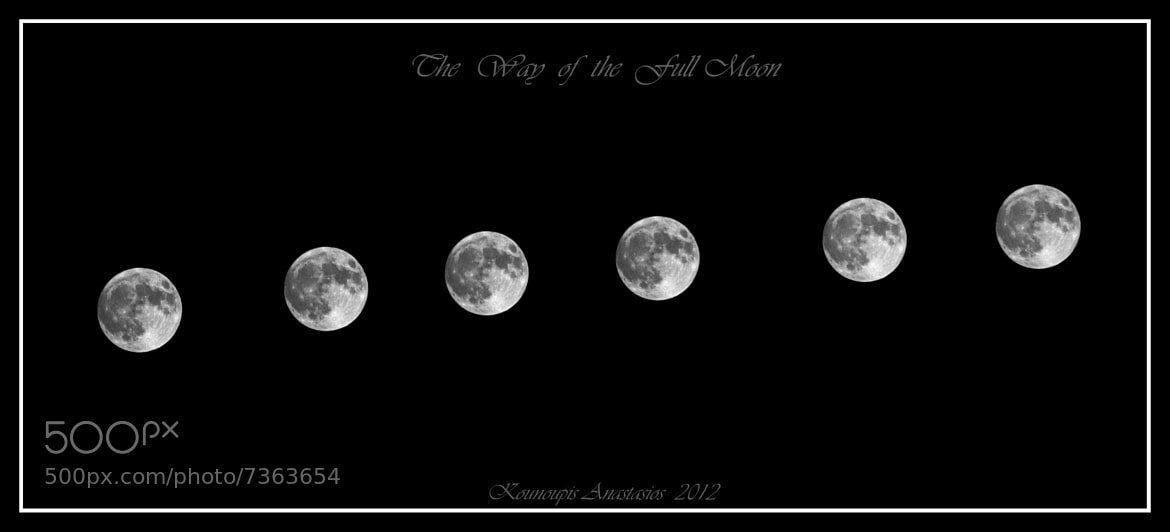 Photograph The way of the full moon by Kounoupis Anastasios  on 500px