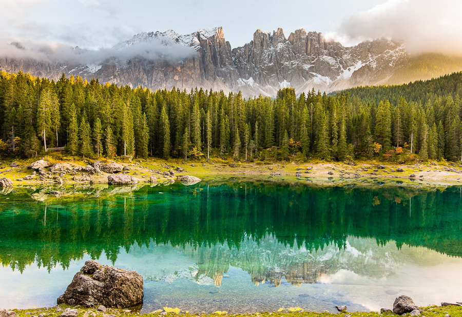 Photograph Lago di Carezza and Latemar by Hans Kruse on 500px