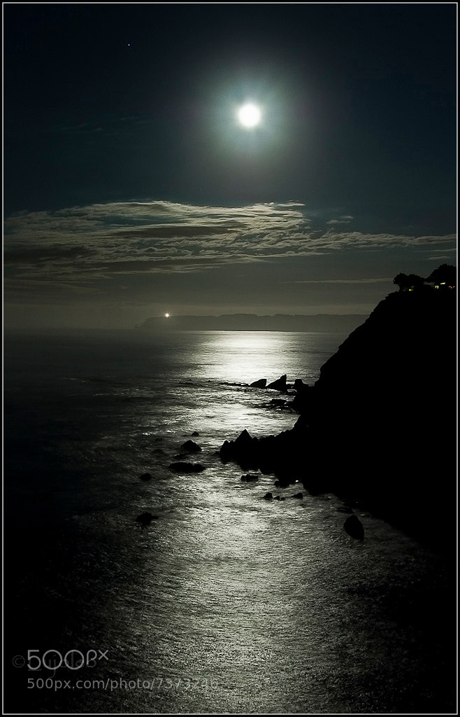 Photograph Full Moon on the Coast by Luis Cabal on 500px