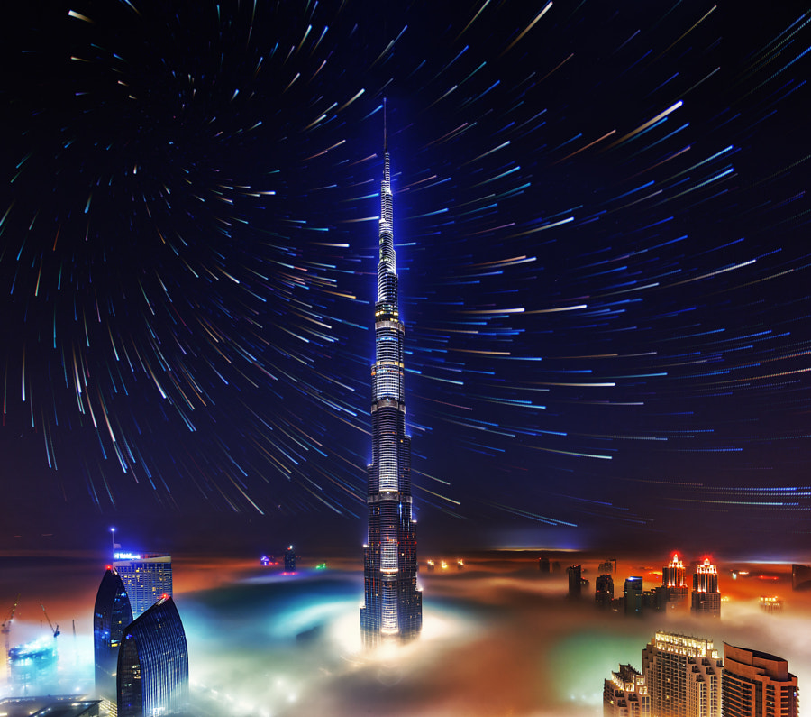 foggy Burj Startrail. by Rustam Azmi on 500px.com