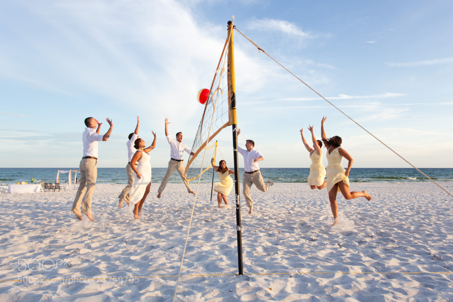Photograph Wedding Party Volleyball by Brian Mitchell on 500px