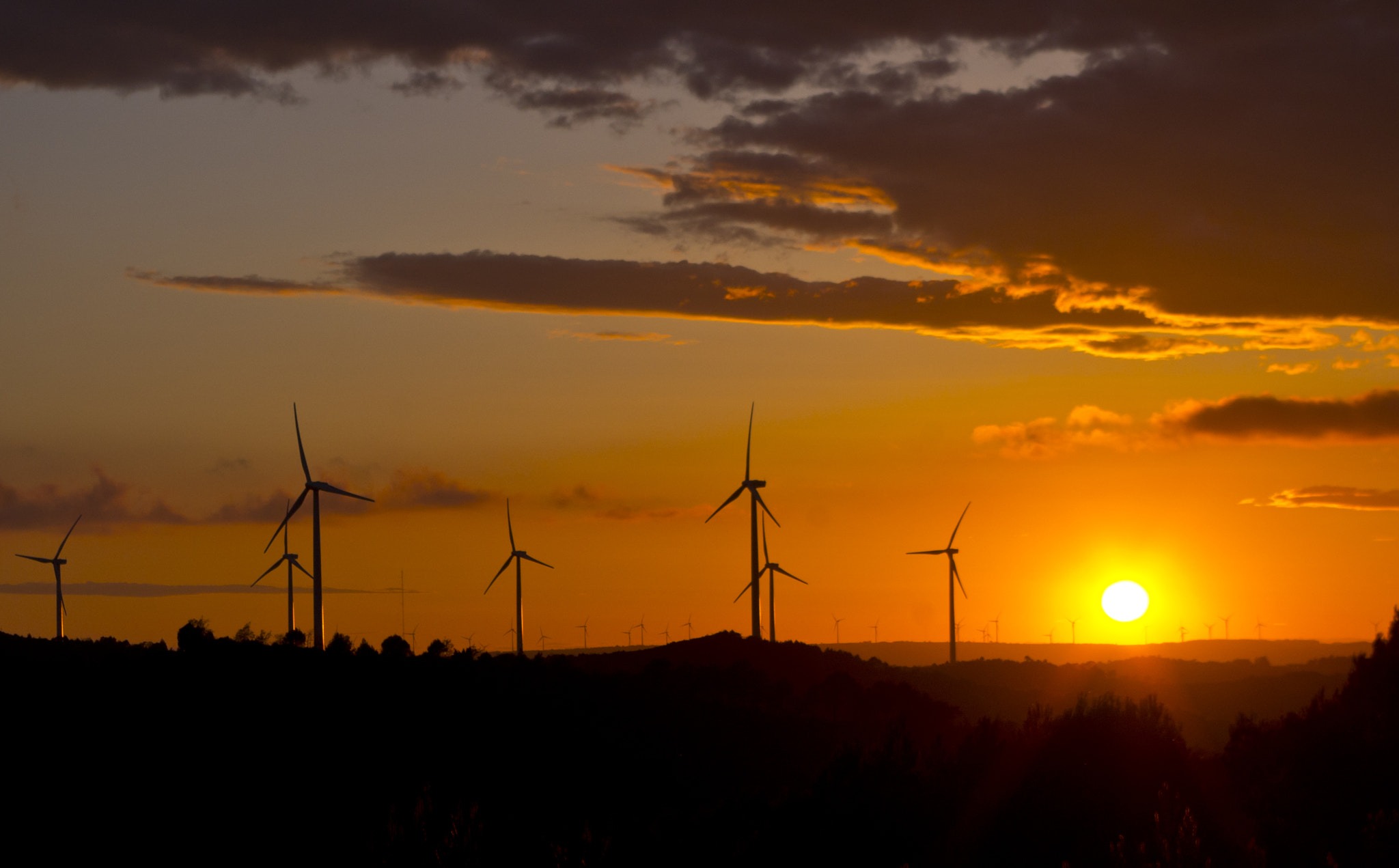 Photograph windmill farm sunset by Manel Camps on 500px