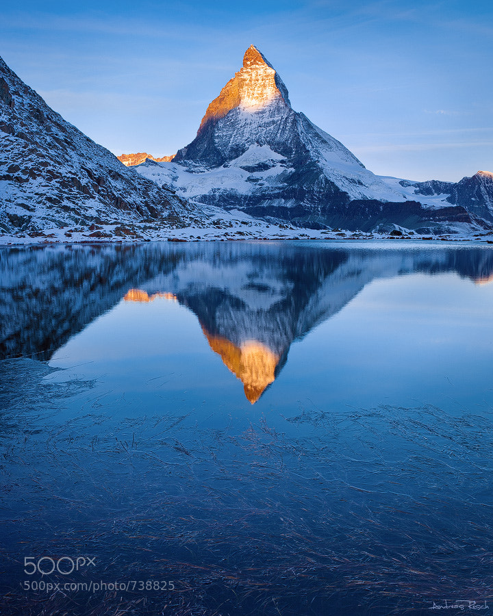 Photograph Matterhorn and Riffellake by Andreas Resch on 500px