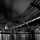Millenium bridge leading to St Paul's Cathedral.