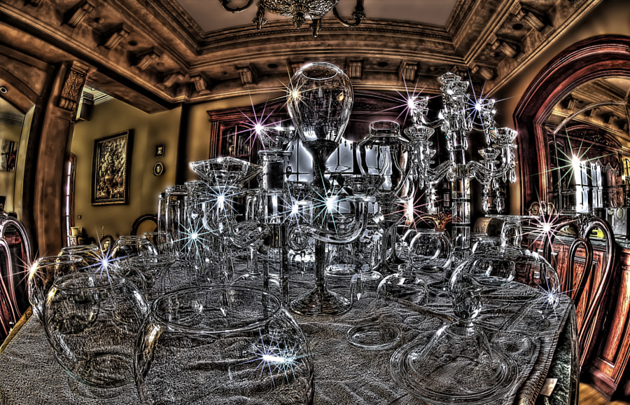 Cleaning glassware at home HDR