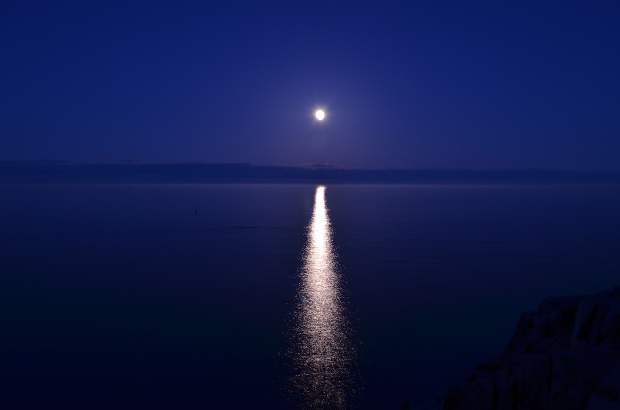 Photograph Once in a Blue Moon by Sean Beaulieu on 500px