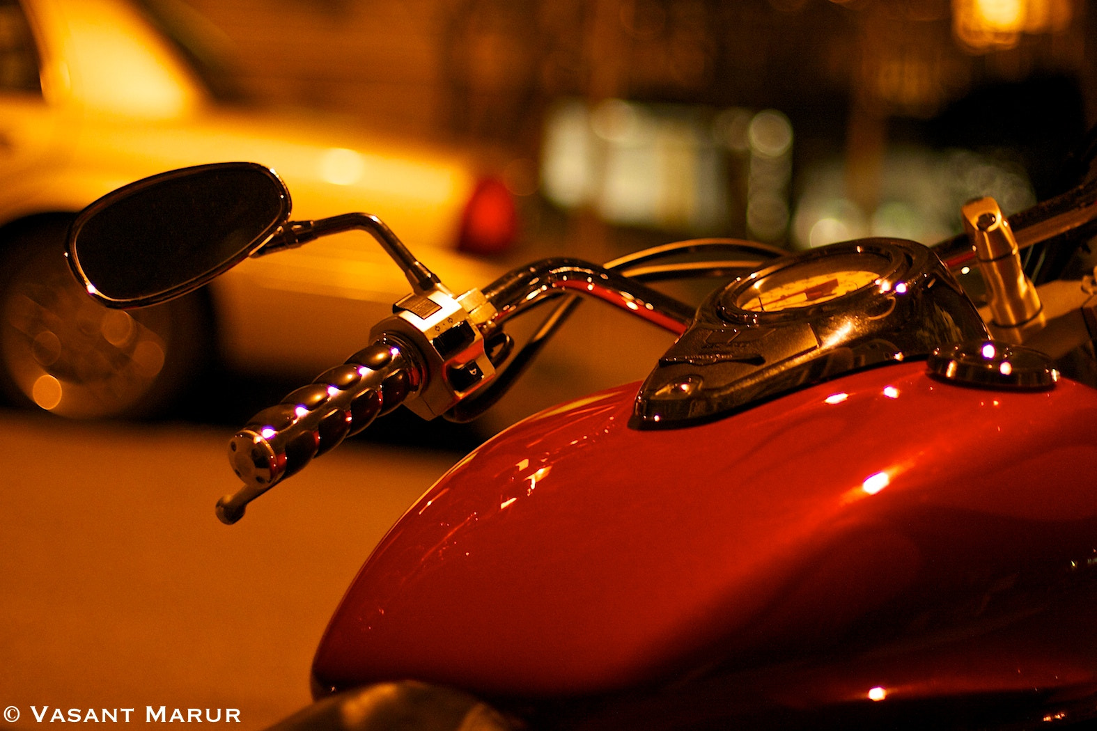 Photograph The Red Motorbike by Vasant Marur on 500px