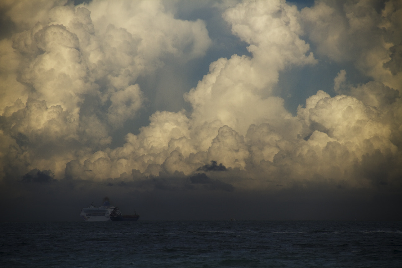 Photograph Storm Clouds Over Miami Beach by Jeff Williams on 500px