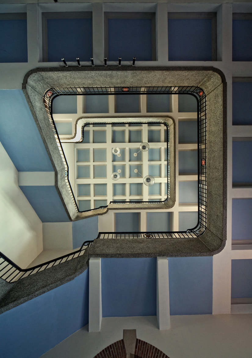 Photograph straight up stair shot by Andreas S on 500px