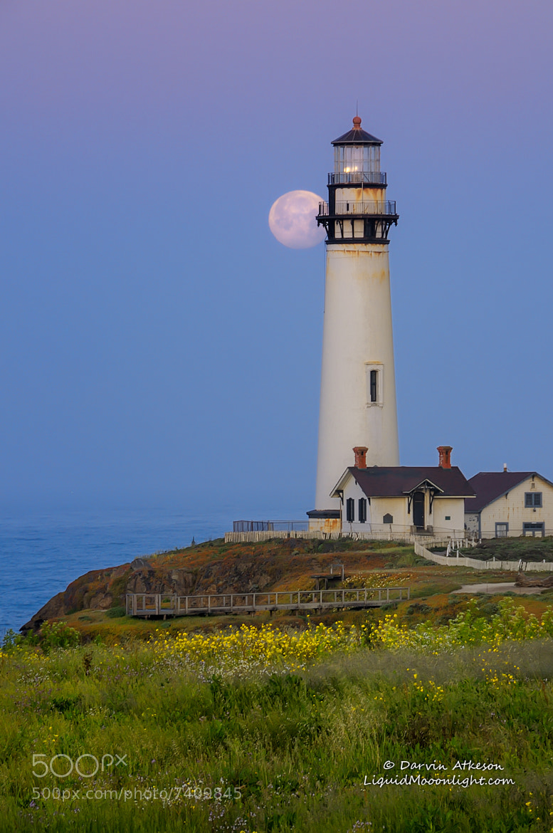 Photograph Birthday Moon at the Lighthouse by Darvin Atkeson on 500px