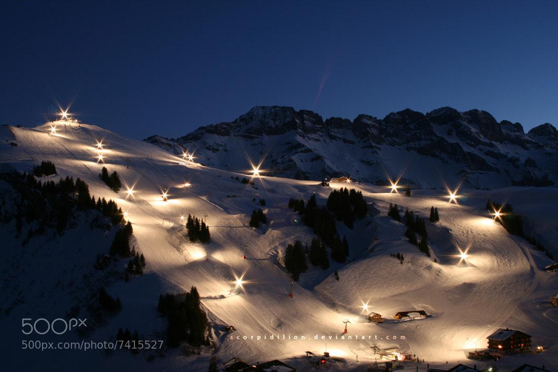 Photograph Night Ski by Elias Näther on 500px