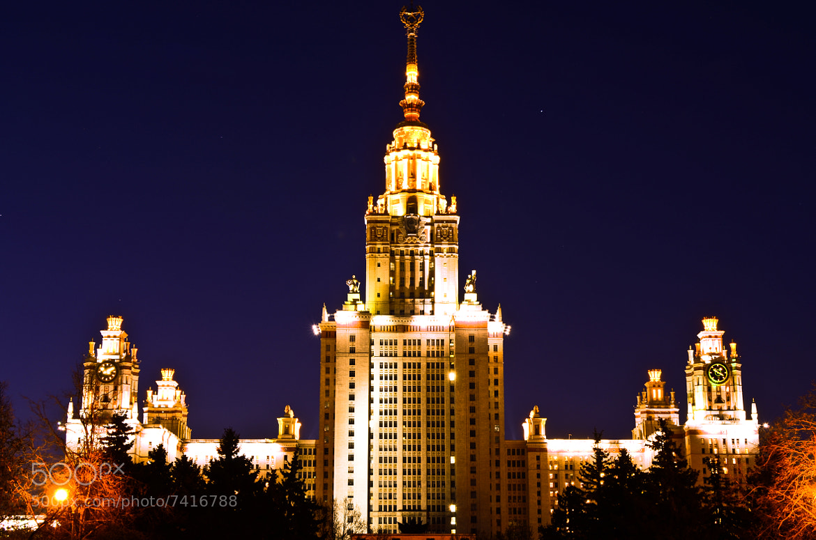 Photograph Lomonosov Moscow State University by Norbert Weiss on 500px