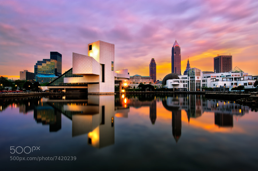 Photograph Cleveland Dusk by zach bright on 500px