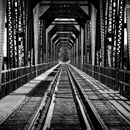 Train bridge mouth in grays
