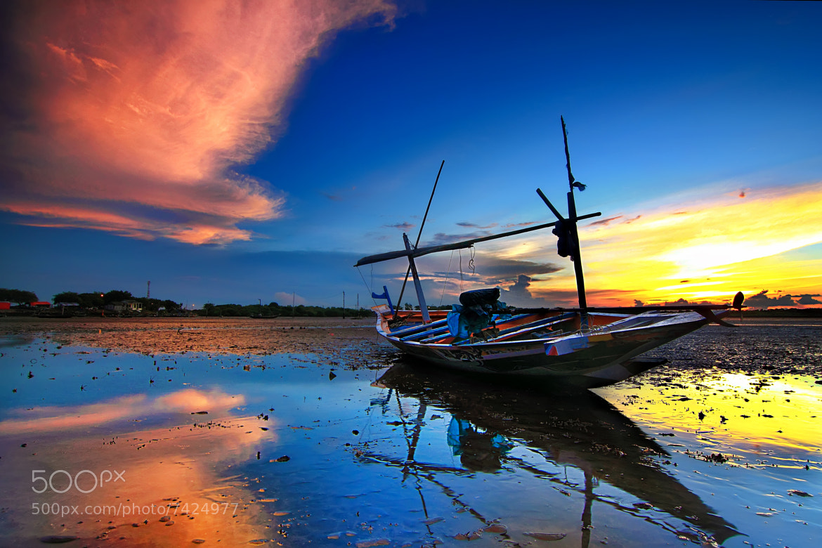 Photograph Boat & Sunset by Eep Ependi on 500px