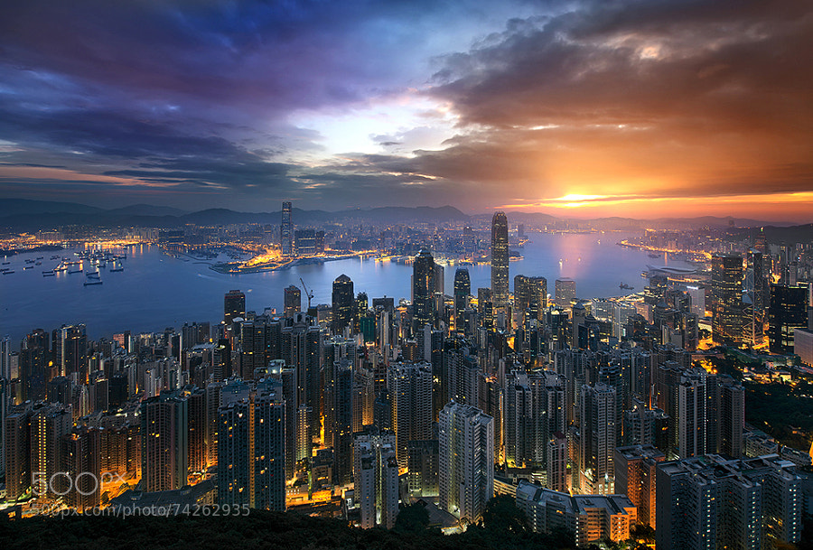 Photograph A Golden Hong Kong Morning by Jimmy Mcintyre on 500px
