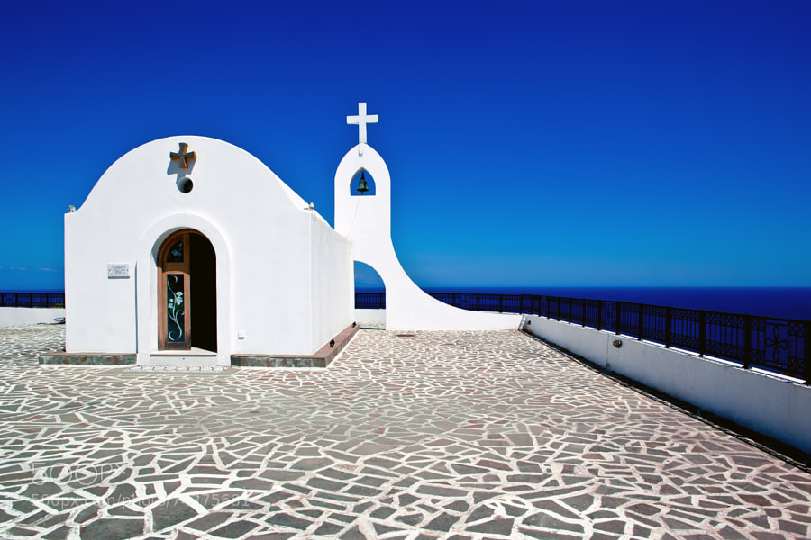 Photograph small white church by marylexa on 500px